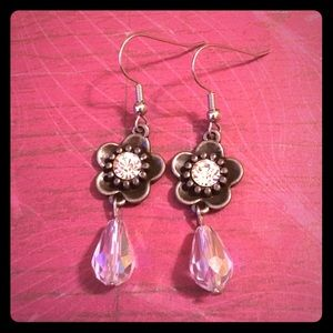 Jewelry - 💖✨Rhinestone Flower Teardrops Earrings✨💖